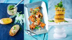 Inviter til høstens krabbefest med krabbekaker, klør i chilisaus og spicy krabberøre - Godt.no - Finn noe godt å spise