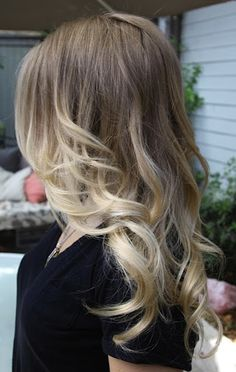 blonde ombre...my dream hair... would be easy to do on someone