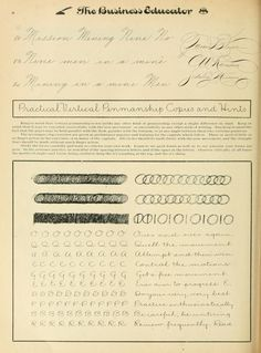 Lessons in Practical Vertical Penmanship from: The Penman-Artist and Business Educator  Publisher: Zaner - Bloser  #BusinessEducator #penmanship #calligraphy  BookReaderImages.php (577×782)