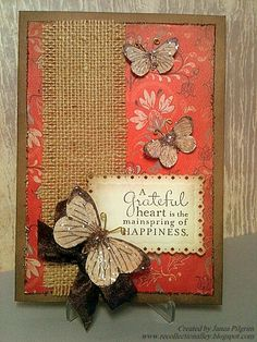 Burlap and Butterflies