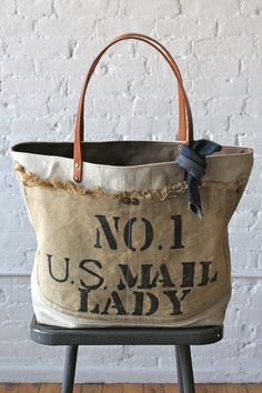 1940's era US Mail Canvas Tote Bag