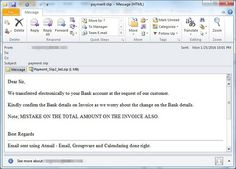 Hackers are running a Business Email Compromise Campaign in ASIA, MIDDLE EAST and US to steal money!