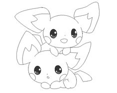 pichu lineart 3 by michy123 on DeviantArt