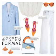 """""""Spring Formal"""" by teoecar ❤ liked on Polyvore featuring Victoria, Victoria Beckham, Vince, Zimmermann, Dolce&Gabbana, Manolo Blahnik, The Row and Topshop"""