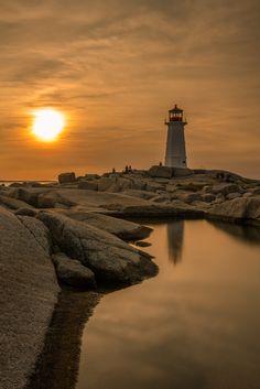 Peggy's cove sunset - Nova Scotia, Canada