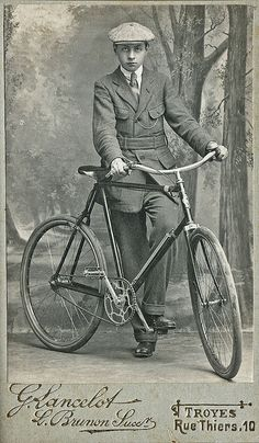 French man with his bicycle c.1910