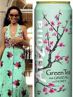 Who wore it best: Rihanna or Arizona Green Tea?