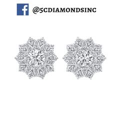 These delicate floral earrings reveal true inner brilliance and would make a lovely wedding day addition.