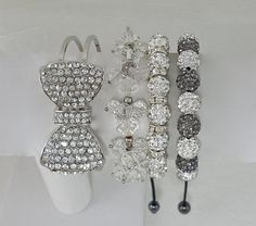 Fast Shipping using First Class Mail Most packages arrive in 2-5 business days!  Gorgeous 4 Piece Set Includes... 2 Crystal Shamballa Bracelets