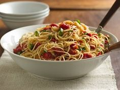 Angel Hair with tomato and basil from betty crocker