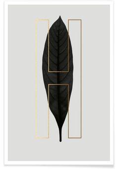 Plants H als Premium Poster von typealive | JUNIQE