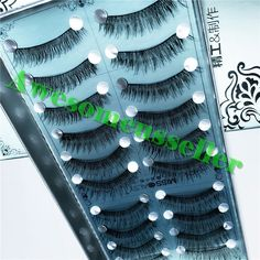 10Pairs Soft Natural Handmade Eye Lash Makeup Charming False Eyelashes #252B #MissDaisy