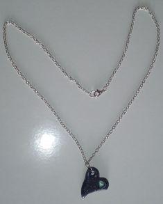 "Halskette ""corazon de Pluton"" Halsschmuck  Collar ""corazon de Pluton"" joya  Earrings ""corazon de Pluton"" jewellery Unisex, Pendant Necklace, Earrings, 4 Kids, Beauty, Jewelry, Gallery, Heart Necklaces, Hearts"