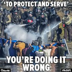 """""""To Protect and Serve"""" YOU'RE DOING IT WRONG. #nodapl"""