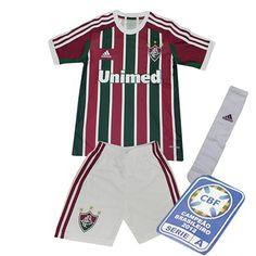 b40ec7a31d Kit Infantil Fluminense 2013 - 2014 Adidas Tricolor Personalizável