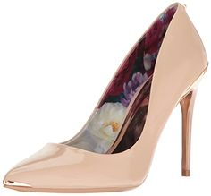 65fba978f Pointed Ted Baker court shoe in soft patent leather with sexy skinny 100mm  stiletto heel branded