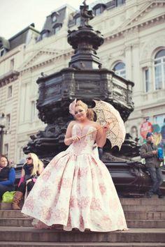 STEAMPUNK WEDDING GOWNS | ... Alternative Wedding Dress with Bustle - Steampunk, Victorian on Etsy