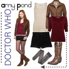 Amy Pond cosplay idea, with longer shorts/pants. I already have a similar jacket.