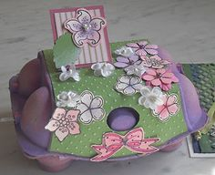 easter box made with egg tray  Osterverpackung aus Eierkarton  #easter #recycle