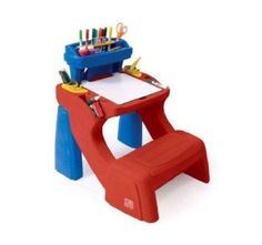Children's Write Desk Step 2 Art  and Chair Young Art WritingTable and Chair  #Step2