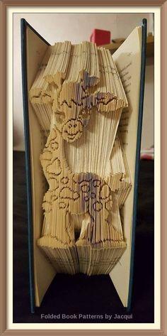 Cute Giraffe Book Folding PATTERN by JHBookFoldPatterns on Etsy