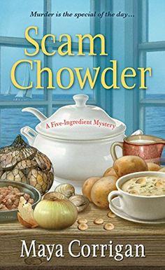 June 30 release. Scam Chowder (A Five-Ingredient Mystery) by Maya Corrigan http://www.amazon.com/dp/1617731404/ref=cm_sw_r_pi_dp_NJcpub01A9AD6