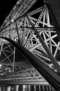 Dom Luis bridge, Porto, Portugal.  Nice shot. Creative angle captures the art and architecture...