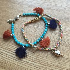 ⭐️Closet Closing!⭐️Bracelet bundle! for your arm Blue beads are by Shashi. Pink multi by Vanessa Arizaga with a cool magnet clasp that blows my mind. Each about $60 on their own. Ask me questions make me offers or trades! (Will sell apart too but less of a deal)  Vanessa Arizaga & Shashi Jewelry Bracelets