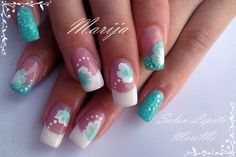 white and green flowers by MarijaJovanovic from Nail Art Gallery Sexy Nails, Just Girl Things, Nail Art Galleries, Green Flowers, Nails Magazine, Bellisima, Finger, Nail Designs, Hair Beauty