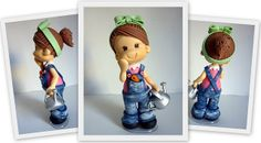 Cute little girl with watering can