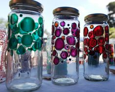 Glass Painting Designs, Paint Designs, Interior Design Layout, Interior Design Living Room, Kilner Jars, Mason Jars, Bottle Painting, Diy Painting, Glass Containers