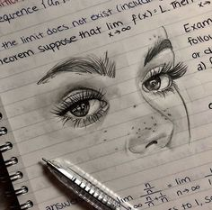 new ideas for eye drawing aesthetic - Drawing Pencil Art Drawings, Art Drawings Sketches, Cool Drawings, Abstract Sketches, Sketch Art, Drawings Of Eyes, Eye Sketch, Small Drawings, Girl Sketch