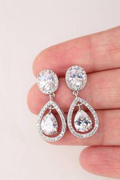 Art Deco Earrings Bridal Earrings Stud Drop Crystal