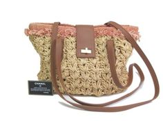 Chanel Raffia/leather Shoulder Bag