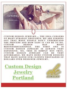 Custom Jewelry Design, Custom Design, Jewelry Shop, Jewelry Stores, People Dont Understand, Three Stone Rings, New Trends, Diamond Rings, Portland