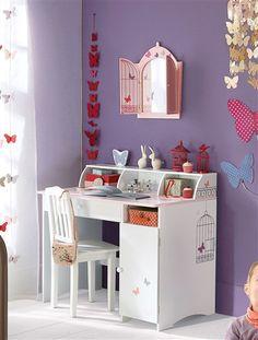 Schreibtisch sekret r f r kinder valentine baby kids for Bureau fille
