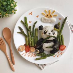 Panda food art by Margaret TatTa (@margaret_tatta)