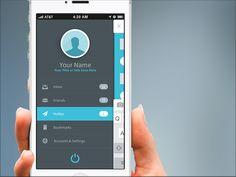 FlatApp Mobile Phone App - Bootstrap Menu Front by Joel Ferrell