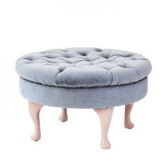 Round pouf in grey v