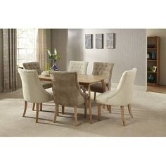 Found it at Wayfair.co.uk - Solid Oak Upholstered Dining Chair