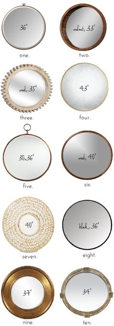 If You're Going To Buy One Thing For Your Walls. . . (The Best Big, Round Mirrors)
