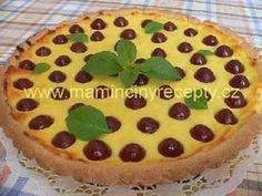 Linecký koláč s tvarohem a třešněmi Pudding, Pie, Desserts, Food, Pie And Tart, Pastel, Deserts, Custard Pudding, Fruit Cakes