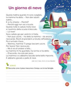 Reading Practice, Italian Language, Learning Italian, Study, Winter Time, Snow, Short Stories, School, Studio