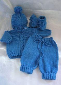Newborn Knitting Patterns free knitted baby sweater patterns for boys Baby Sweater Patterns, Baby Patterns, Crochet Patterns, Baby Knitting Patterns Free Newborn, Crochet For Boys, Knitting For Kids, Free Knitting, Boy Crochet, Booties Outfit