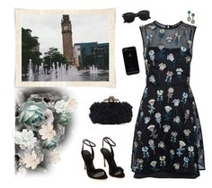 """~ Evening Stroll by the Fountains ~"" by stylistic-1 ❤ liked on Polyvore featuring Markus Lupfer, Oscar de la Renta and Polo Ralph Lauren"
