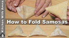 How to fold Samosa perfectly - Homemade Samosa Patti Recipe - Kitchen With Amna How To Fold Samosas, Meat Samosa, Butter Tart Squares, Turnover Recipes, Egyptian Food, Ramadan Recipes, Easy Casserole Recipes, Indian Dishes, Light Recipes