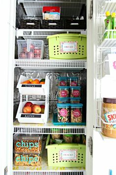 An organized pantry.