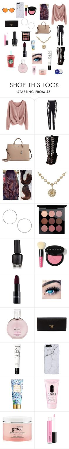 """School day"" by megans23 ❤ liked on Polyvore featuring Lodis, WithChic, Miss Selfridge, MAC Cosmetics, Bobbi Brown Cosmetics, MINX, Chanel, Prada, NARS Cosmetics and AERIN"