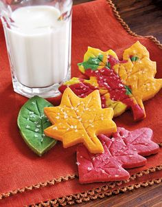 never thought about adding food coloring to sugar cookie dough. this is a clever idea for no frosting sugar cookies. something my family prefers.