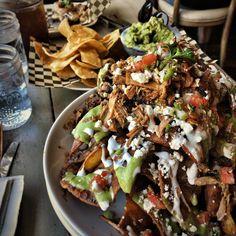 Too much mole carnitas nachos. #zonarosa #losgatos